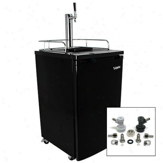 Edgestar Full Size Kegerator & Draft Beer Dispenser W/ Home Brew Tap