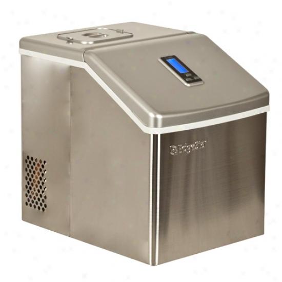 Edgestar Portable Stainless Sterl Clear Ice Maker