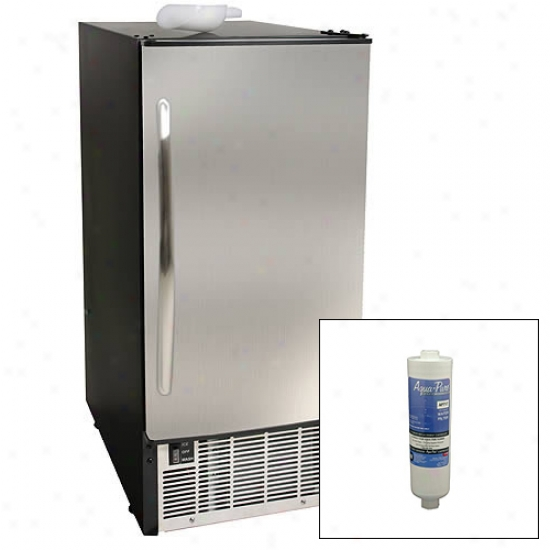 Edgestar Undercounter Clear Ice Maker With Filter Kit