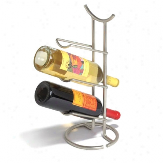 Euro Wine Rack - 3 Bottle - Black