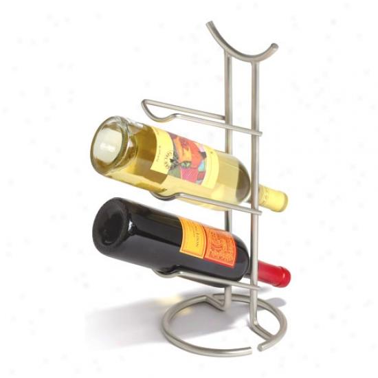 Euro Wine Rack - 3 Bottle - Satin Nickel