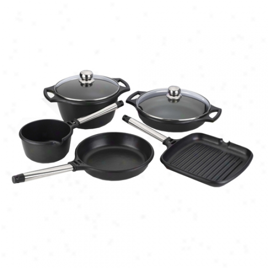 Fagor Cast Aluminum 7 Piece Cookware Set