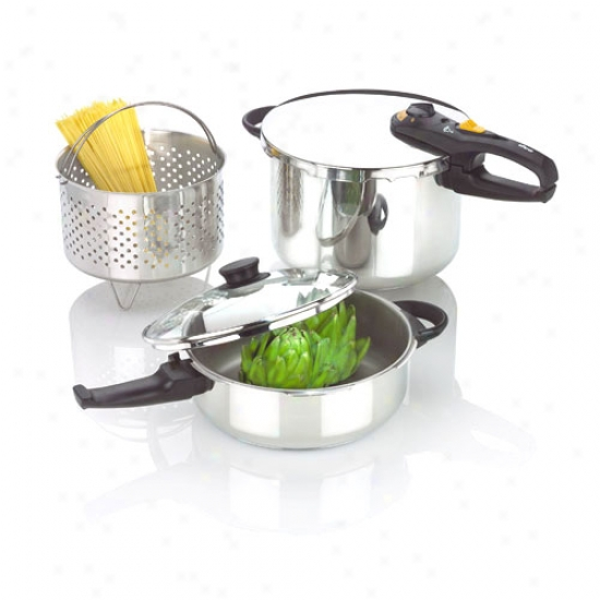 Fagor Duo Prewsure Cooker Combi Set