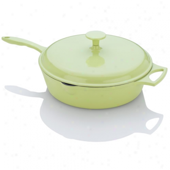 Fagor Michelle B Lime Cast Iron Chicken Fryer