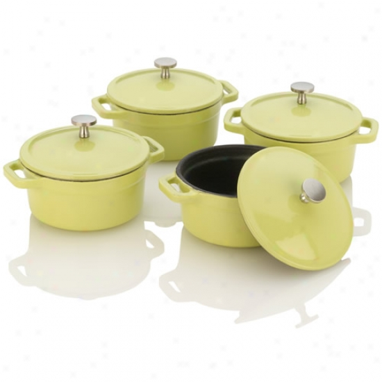Fagor Michelle B Lime Cast Iron Mini Dutch Ovens
