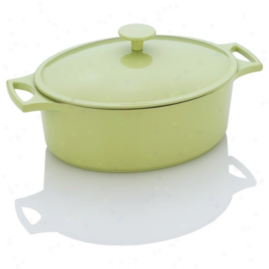 Fagor Michelle B Lime Cast Iron Oval Duth Oven