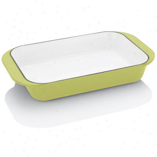 Fagor Michelle B Lime Cast Iron Rectangular Baker