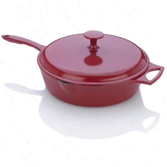 Fagor Michellr B Red Cast Iron Chicken Fryer