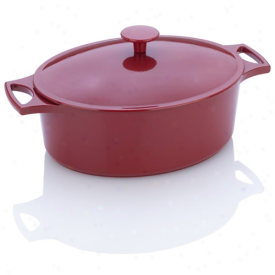 Fagor Michelle B Red Cast Iron Oval Dutch Oven