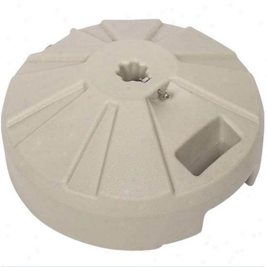 Fiberbuilt 16  Plastic Umbrella Base - Beige