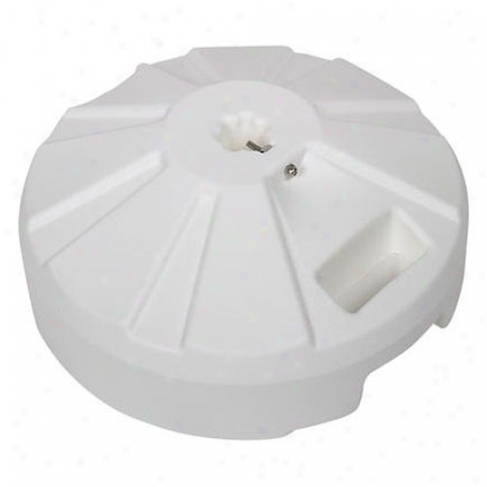 Fiberbuilt 16  Plastic Umbrella Base - White