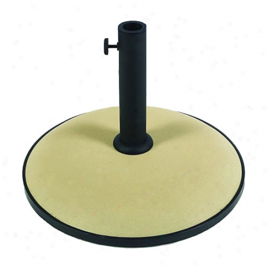 Fiberbuilt 19  Concrete Umbrella Base - Beige