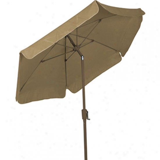 Fiberbuilt 7.5' Garden Umbrella With Crank And Tilt - Bronze Frame