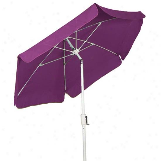 Fiberbuilt 7.5' Garden Umbrella With Crank And Tilt - White Form
