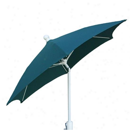 Fiberbuilt 7.5' Patio Umbrella With Crank And Tilt - White Frame