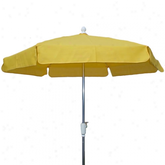 Fiberbuilt Garden Collection 7.5' Umbrella With Crank - Aluminum Frame