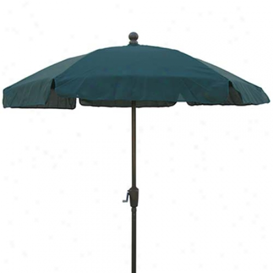 Fiberbuilt Garden Collection 7.5' Umbrella With Crank - Bronze Frame