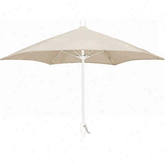Fiberbuilt Patio Collection 7.5' Umbrella With Crank - White Frame