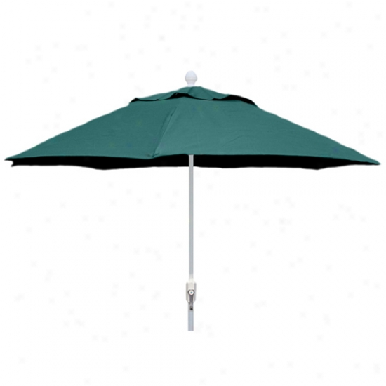 Fiberbuilt Patio Collection 9' Umbrella With Crank - White Frame
