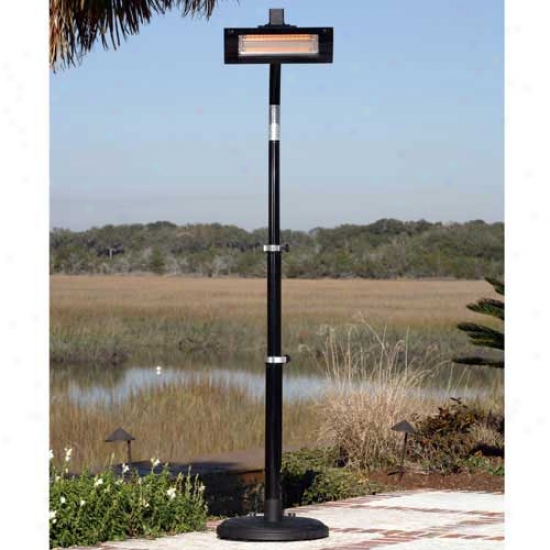 Fire Sense Black Steel Infrared Patio Heater (tlass Front)