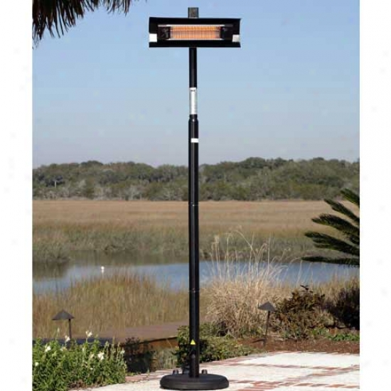 Fire Sense Black Steel Infrared Straight Pole Patio Heater