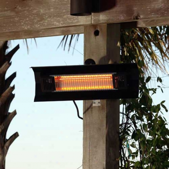 Fire Sense Black Steel Wall Mounted Infrarec Patio Heater