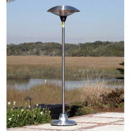 Fire Sense Floor Standing Stainless Steel Halogen Patio Heater