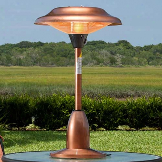 Fire Sense Table Top Copper Finished Steel Halogen Patio Heater