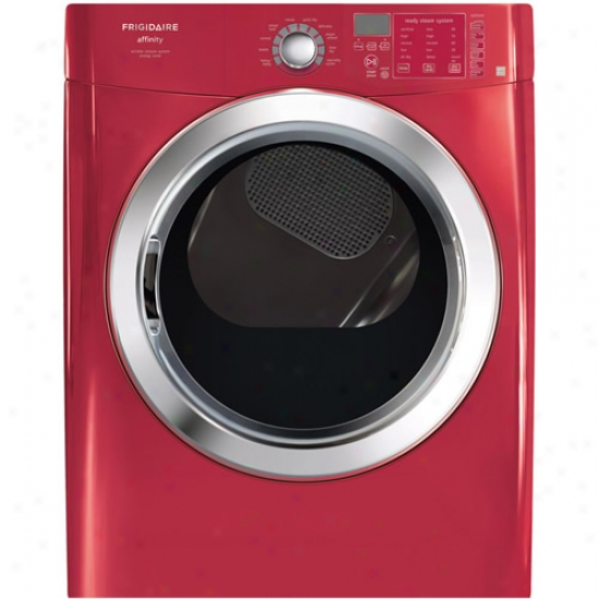Frigidaire 7 Cubic Foot Affinity Series Red Stackable Gas Front Load Dryer With No Wash Sanitize