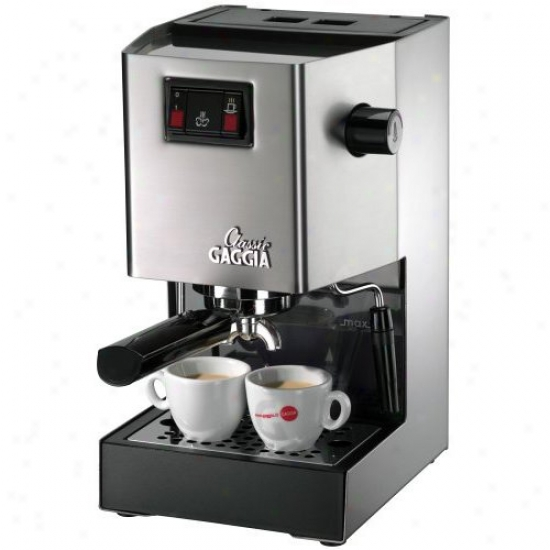 Gaggia Classic Espresso Machine - Brushed Stainless Steel