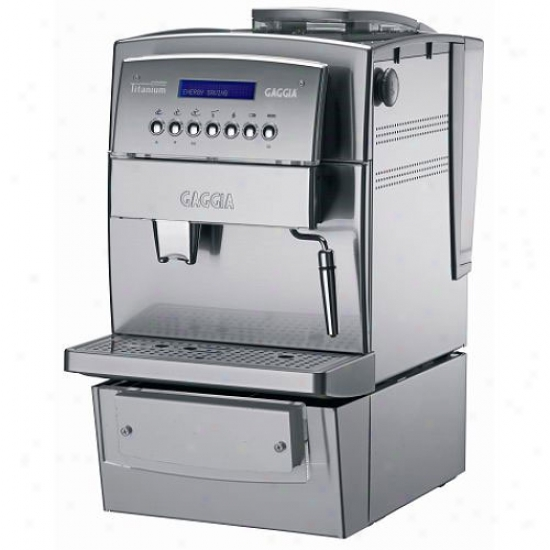 Gaggia Titanium Office Automatic Espresso Machine - Silver And Stainless Steel