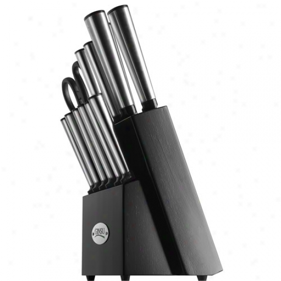 Ginsu 14 Piece Stainless Steel Cutlery Set W/ Black Block