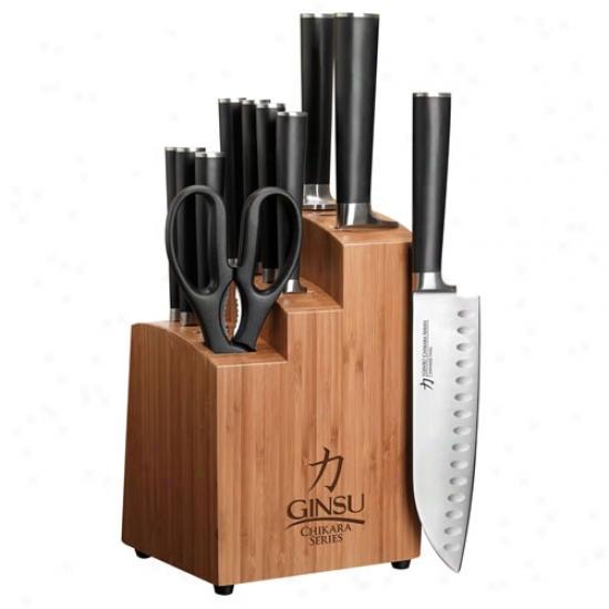 Ginsu Chikara 12 Pc Bamboi Thick and heavy piece  Set