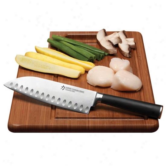 Ginsu Chkkara Santoku Knife W/ Cutting Board
