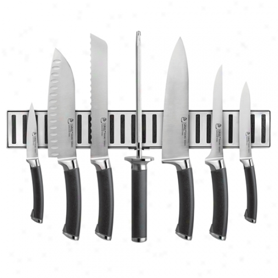 Ginsu Shoku Ebony 8 Piece Concrete W/ Magnetic Strip