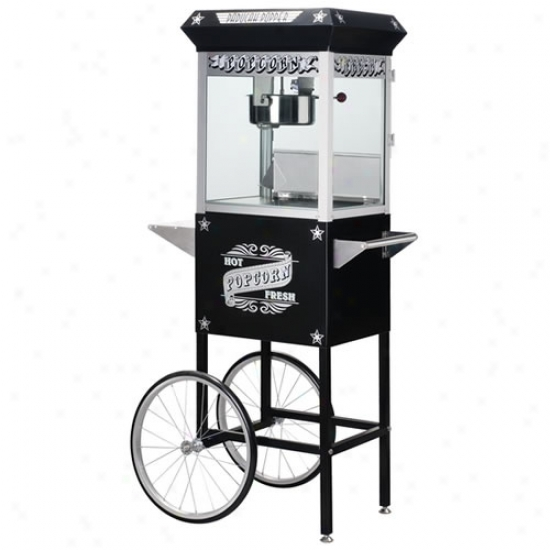 Gnp 8 Oz. Popcorn Machine On Cart