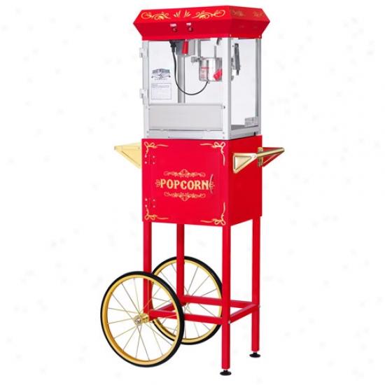 Gn All Star 4 Oz Popcorn Machine & Cart