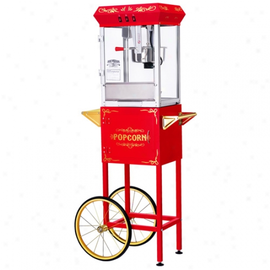 Gnp All Star 8 Oz Popcorn Machine & Cart