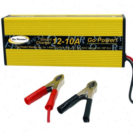 Go Power! 10 Amp Battery Charger 12v, 1 Bank