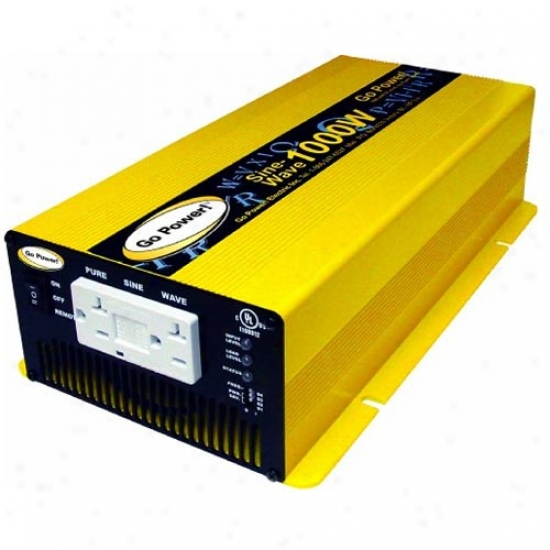Go Power! 1000 Watt Pure Sine Waave Inverter 12v