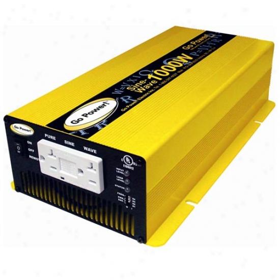 Go Power! 1000 Watt Pure Sine Wave Inverter 24v