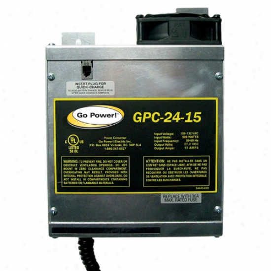 Go Power! 15 Amp Battery Charger 24v, 1 Bank