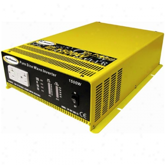 Go Power! 1500 Watt Pure Sine Wave Inverter 12v