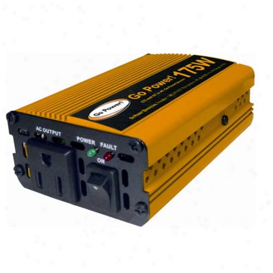Go Power! 175 Watt Modifird Sine Wave Inverter 12v