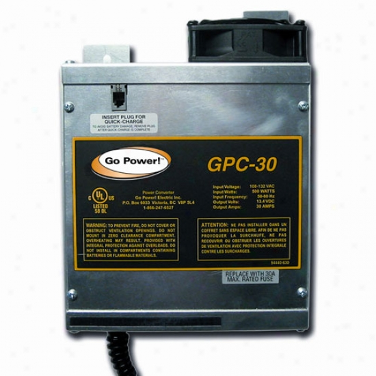 Go Power! 30 Amp Battery Charger 12v, 1 Bank