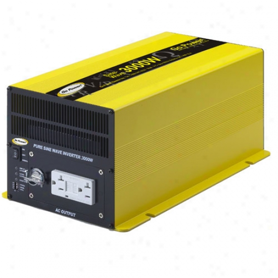 Go Power! 3000 Watt Pure Sine Wave Inverter 12v