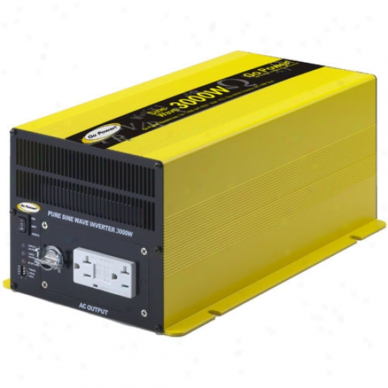 Go Powre! 3000 Watt Pure Sine Wave Inverter 24v