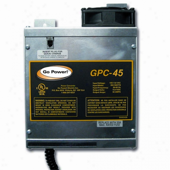 Go Power! 45 Amp Battery Charger 12v, 1 Bank