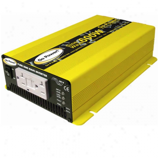 Go Power! 600 Watt Pure Sine Wave Inverter 12v