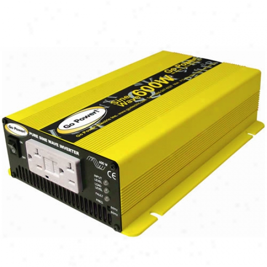 Go Power! 600 Watt Pure Sine Wave Inverter 24v